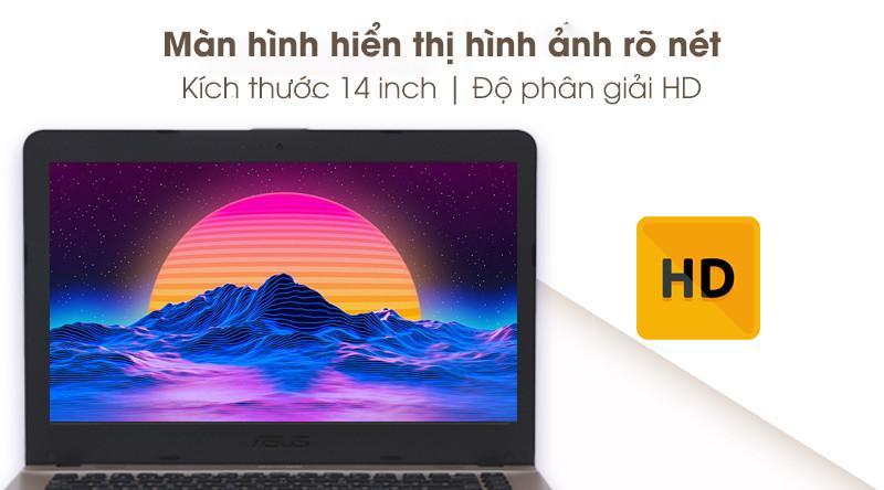 Laptop Asus Vivobook X441MA hiển thị rõ nét hình ảnh